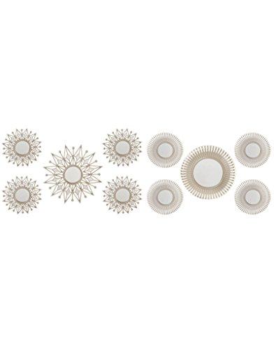Espejo Circular Set 5 Unidades decoración. Diseño