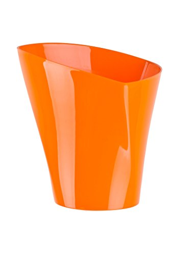 flower-pots-twister-shape-8-colours-5-sizes-gloss-plastic-plant-pots-planter-22-cm-orange