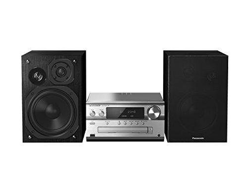 Panasonic SC-PMX70BEGS Micro HiFi System (CD Spieler, DAB+, Bluetooth, USB, Stereo Cinch, NFC, 120 Watt RMS) silber (Home-stereo-system, Billig)