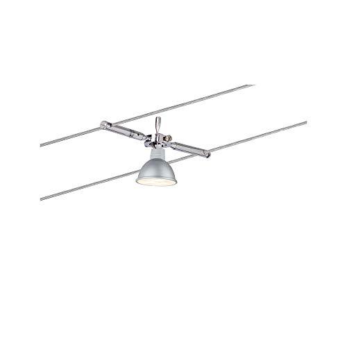 Paulmann Mac LED Seilsystem, Deckenstrahler 4-flammig Komplettset, eckige Deckenleuchte – ideal als Bürobeleuchtung & Küchenbeleuchtung, Farbe: Chrom Matt - 6
