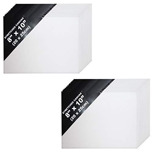 Segeltuch Panel Tafel - 24 Stück Weiß Segeltuch zum Künstler - Künstler Segeltuch Panel Tafel von Größe 20 x 25 cm - Acryl Malerei - Leinwand für Acrylmalerei- Leinwand für Aquarellmalerei (Große Gerahmte Tafel)