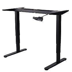 Flexispot E5B Höhenverstellbarer Schreibtisch Elektrisch höhenverstellbares Tischgestell, 3-Fach-Teleskop, passt für alle gängigen Tischplatten. Mit Memory-Steuerung und Softstart/-Stop
