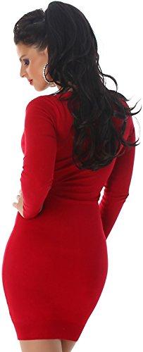 Enzoria - Robe - Crayon - Uni - Femme Rouge