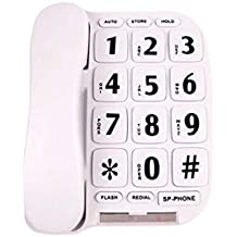 CAALSA Teléfono Antiguo, Sonido Fuerte, botón Grande Blanco, ...