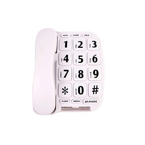 Wadse Altes Telefon, Laute Stimme, große Knöpfe, großes digitales, Weiß, 16CM * 21.5CM * 9CM -by Virtper