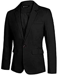 Sourcingmap Allegra K Christmas Men Slim Fit Notched Lapel Single Button Closure Casual Blazer