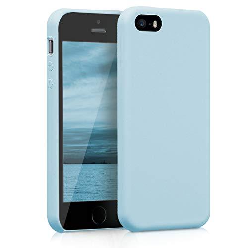 kwmobile Apple iPhone SE / 5 / 5S Hülle - Handyhülle für Apple iPhone SE / 5 / 5S - Handy Case in Hellblau matt