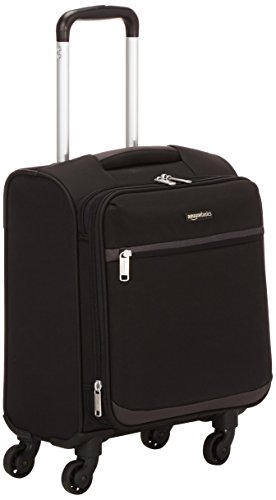 AmazonBasics - Roll-Reisetrolley, 46 cm, Schwarz