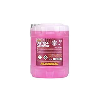 MANNOL Antifreeze AF12+ Kühlerfrostschutz 10 Liter, Rosa bis-40°C für G12+ Frostschutz