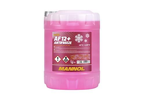 MANNOL Antifreeze AF12+ Kühlerfrostschutz 10 Liter, Rosa bis-40°C für G12+ Frostschutz (Kühler Wasser)