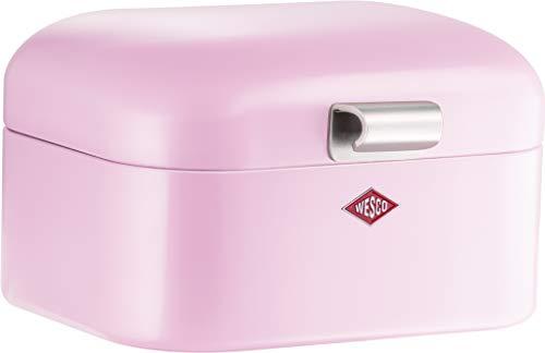 Wesco 235 001 Mini Grandy Brotkasten pink 18 x 17 x 12cm (L/B/H), Edelstahl Rosa Küche
