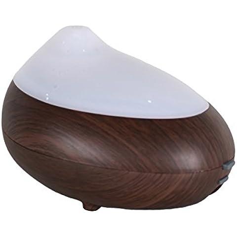 La aromaterapia humidificador ultrasónico de la máquina multifunción y la manera creativa difusor de fragancia, Hogar Silencio dormitorio y sala de estar aromaterapia oxígeno aceite nebulizador - madera oscura,