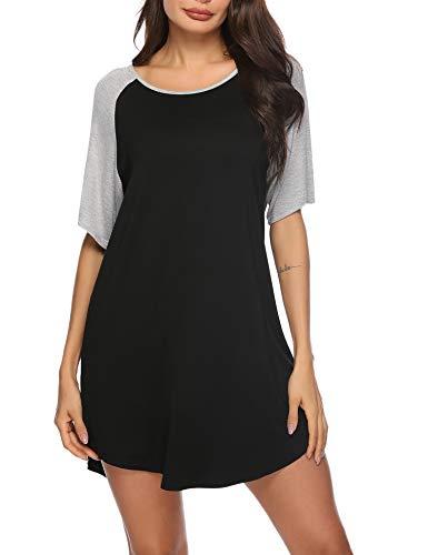 Sykooria Vestidos Verano Mujer Camisón Algodón Camisa