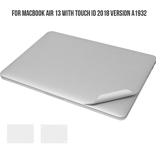 HRH 2018 MacBook Air 13 Zoll A1932 Tastaturschutz für Tastatur, Aufkleber für den gesamten Körper, Handauflage Body Guard Body Protector Film
