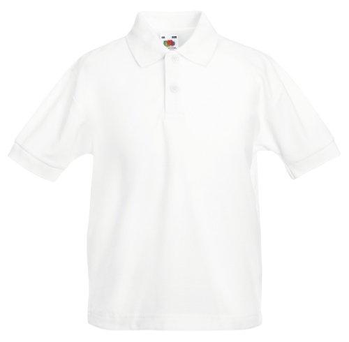 Fruit of the Loom - Kinder Poloshirt 'Piqué Polo 65/35' White