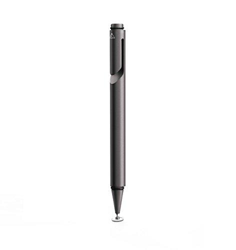 Adonit Mini 3 kapazitiver Eingabestift für Alle Smartphones/Tablets Wie Apple iPhone/iPad Etc. - Schwarz [Aluminium | Trageclip | Ergonomisches Design] - ADJM3B