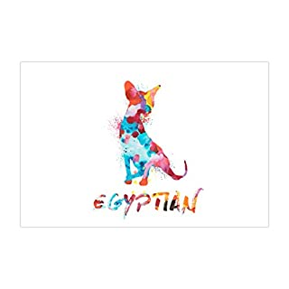 ArtsyCanvas Egyptian Watercolor Splatter Art (Poster), 36 x 24