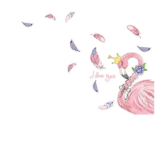 Flamingo Tier Wandaufkleber Vinyl DIY Palm Tree Leaves Wandtattoo Für Haus Wohnzimmer Kinder Schlafzimmer Dekoration (Palm Haus Tree)