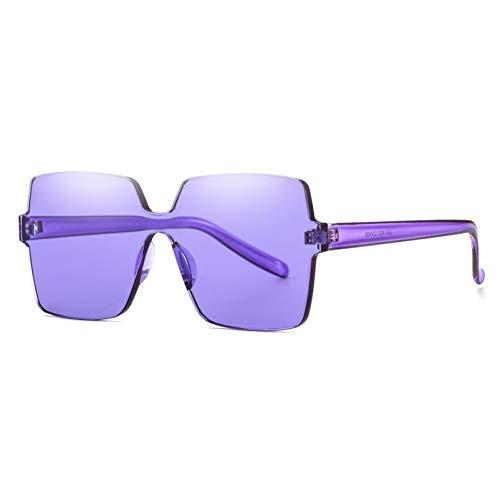 JIGHB Sonnenbrille weiblich Fashion Square Sonnenbrille Frauen Cut Gesicht Tönung Uv400 Shades Weibliche Sonnenbrille Für Urlaub Reise Bunte Linse