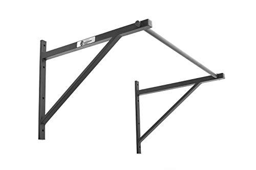 HOLD STRONG Fitness - Barra de dominadas para cross-training con homologación para gimnasio conforme a EN 957 - Perfecta para dominadas 'kipping' y 'muscle-ups', ¡con mayor separación de la pared! (puede montarse en la pared o en el techo) - ¡Ponte en forma!
