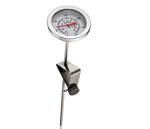 Küchenprofi 1065082800Termometro per frittura, acciaio inossidabile, colore argento, 5,6x 5,8x 26,6cm