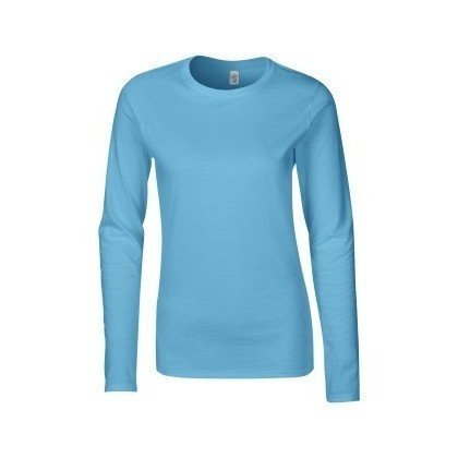 Gildan Damen Langarm T-Shirt / Sweatshirt (L) (Hellblau) L,Hellblau