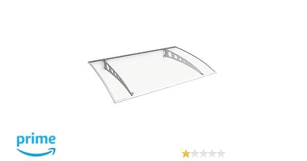 Schulte Vordach /Überdachung Haust/ürvordach 140x89cm Polycarbonat klar Stahl wei/ß Pultbogenvordach
