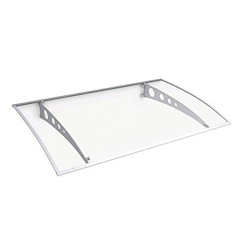 Schulte Vordach Haustür-Überdachung 140x90 cm weiß rostfrei Polycarbonat durchgehend und...