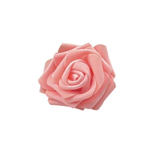 50x Rosa Teste di Fiore Artificiale Schiuma Sposa Bouquet Decorazione Matrimonio Partito Casa - Rosa Champagne