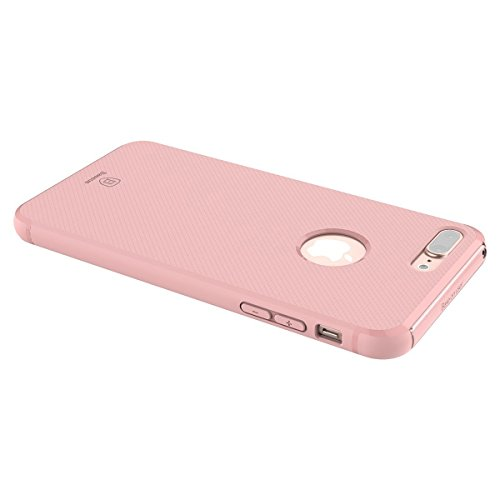iPhone 7 Plus Hülle,IVSO Ultra Slim Silikon Rückseite Schutzhülle, mit Advanced Shock Absorption Technology hülle für Apple iPhone 7 Plus Smartphone, Blau Pink