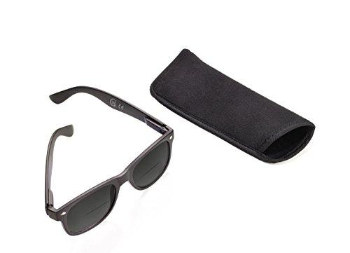 TROIKA SUN READER Lese-Sonnenbrille mit 3 Dioptrien - SUN30/BK - schwarz - Bifokal Lesesonnenbrille, Stärke +3,0 dpt, TÜV-geprüft, Polycarbonat, mit Etui, schwarz - das Original von TROIKA