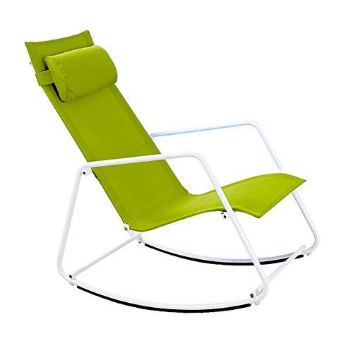 Bseack Chaise berçante, secouez la nature, repose-tête amovible, design ergonomique, balcon, jardin, chaise de loisirs/pause-repas (Couleur : A)