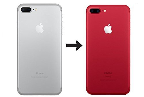 GADGETS WRAP Apple iPhone 7 Plus Back Body Film Sticker Wrap Skin – Red (CO) B7B13