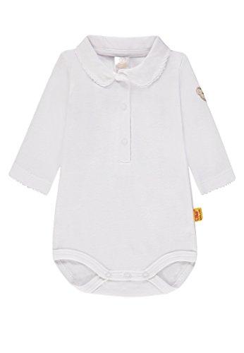 Gestickte Kragen Body (Steiff Baby-Mädchen 1/1 Arm Formender Body, Weiß (Bright White 1000), 68)