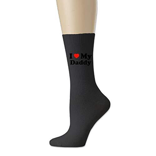 YuanHu Baumwollsocke I Love My Daddy Fashion Crew Socks Neuheitssocken