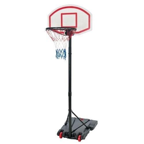 Mobiler Basketballkorb mit Rollen | verstellbare Korbhöhe 165 - 205 cm - Backboard 71 x 45 cm (Verstellbare Basketball-netz)