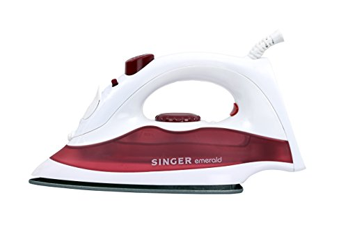 Singer Emerald 1250-Watt Steam Iron (White)
