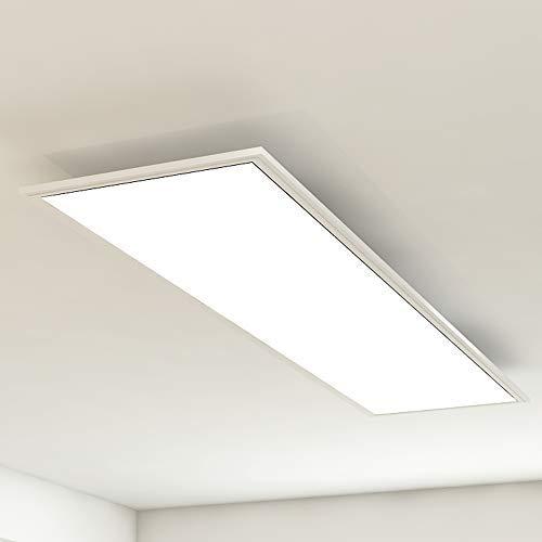 Briloner Leuchten - LED Deckenleuchte-Panel, LED-Lampe, Wohnzimmer-Lampe, Deckenlampe, Deckenstrahler, 38W, Rechteckig Weiß, 119.5 cm