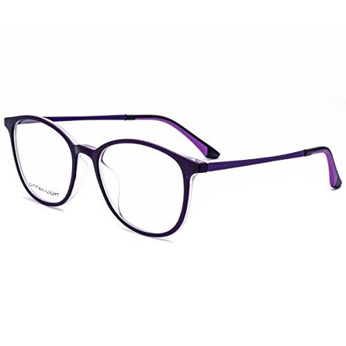 hepidem TR90Silikon Gläser Frauen verschreibungspflichtigen Brillen Rahmen 6109, violett