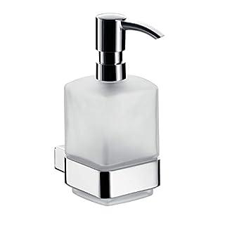 Emco Loft Seifenspender für Flüssigseifen, mit Dosierpumpe, Glas satiniert, Badaccessoires, für Wandmontage - 52100101