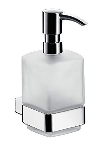 Emco Loft Seifenspender für Flüssigseifen, mit Dosierpumpe, Glas satiniert, Badaccessoires, für...