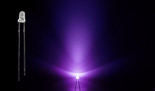 ProGoods 50x LED 3mm violett rund|radial bedrahtete Leuchtdiode|energieeffizienter als herkömmliche Lampen|für Modellbau,Innenraumbelechtung,usw.|Antistatikverpackung|lange Lebensdauer