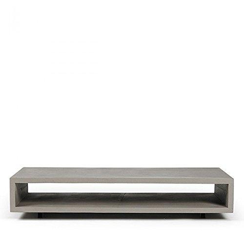 Table Basse rectangulaire béton XL Monobloc - Couleur - Gris béton