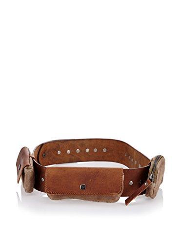 LandLeder Gürtel mit 3 Außentaschen Legend of Leather Leder 6x95 cm (Außentaschen Sechs)