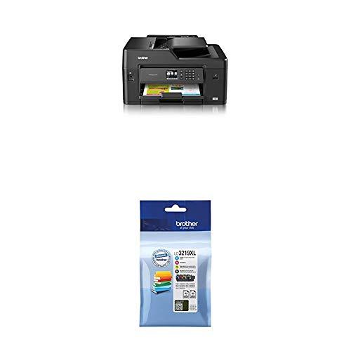 Brother MFC-J6530DW DIN A3 4-in-1 Farbtintenstrahl-Multifunktionsgerät (250 Blatt Kassette, Drucker, Scanner, Kopierer, Fax) + LC-3219XL Original Tintenpatronen im Value Pack, schwarz, cyan, magenta, gelb - 250-blatt-kassette