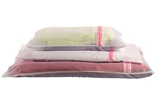 saganizer Wäsche Staubbeutel BH Waschen Tasche Dessous Tasche Super Qualität Mesh Wäschesäcke Dessous Beutel für Wäsche, Set von 3Wäschesack. Schützt das feine Kleidung -