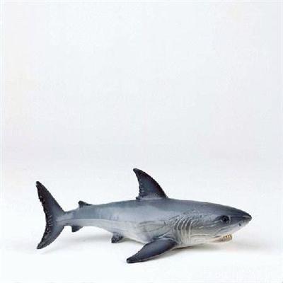 Bullyland 67410 – Spielfigur, Weißer Hai, ca. 16 cm