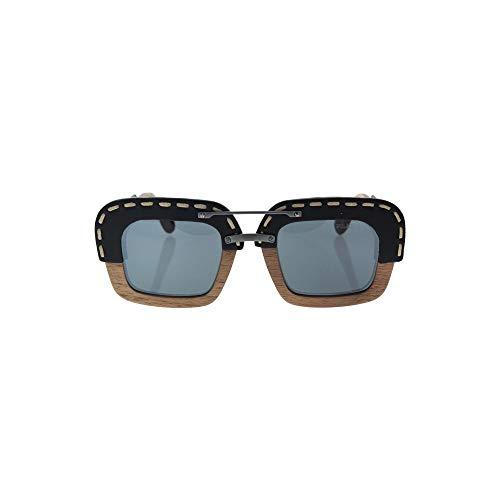 Prada Unisex PR26RS Sonnenbrille, Schwarz (Black/Brown UA61A1), One size (Herstellergröße: 51) - Prada Schwarz Leder