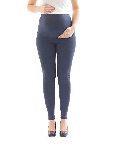 yeset Umstandsleggings Thermo Fleece innen Hose lang Baumwolle Umstand-Leggings Jeans M