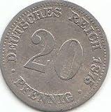 Deutsches Reich Jägernr: 5 1875 C schön Silber schön 1875 20 Pfennig Kleiner Reichsadler (Münzen für Sammler)